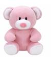 Pluche knuffel roze teddybeer ty beanie baby princess 24 cm