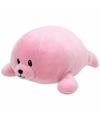 Pluche knuffel roze zeehond ty beanie baby doodles 24 cm