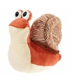 Pluche knuffel slak bruin 24 cm