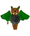 Pluche knuffel vleermuis groen 14 cm