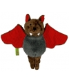 Pluche knuffel vleermuis rood 14 cm