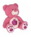 Pluche knuffelbeer roze appel 25 cm