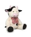 Pluche koe met strikje 30 5 cm