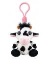 Pluche koe sleutelhanger 9 cm