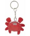 Pluche krab sleutelhanger 6 cm