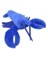 Pluche kreeft knuffel blauw 28 cm