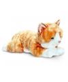 Pluche liggende rode kat knuffel 35 cm