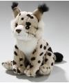 Pluche lynx knuffel 16 cm