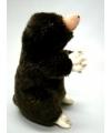 Pluche mol knuffeldier zittend 22 cm