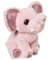 Pluche olifant knuffel roze 18 cm