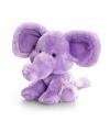 Pluche olifant knuffel zittend 14cm