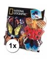 Pluche oranje vlinder vingerpop 22 cm
