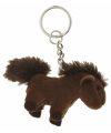 Pluche paard sleutelhanger 6 cm