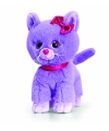 Pluche paarse kitten kat staand 25cm