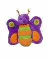 Pluche paarse vlinder knuffeltje 10 cm