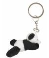Pluche panda sleutelhanger 6 cm