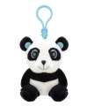 Pluche panda sleutelhanger 9 cm