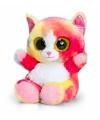 Pluche regenboog kat kitten knuffel 15cm