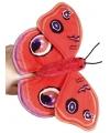 Pluche rode vlinder vingerpop 22 cm