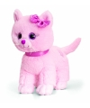 Pluche roze kitten kat staand 25cm