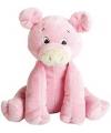Pluche roze knuffel varken 15 cm