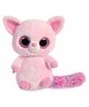 Pluche roze vos knuffel 28 cm
