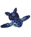 Pluche schildpad blauw 39 cm