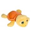 Pluche schildpad knuffel geel oranje 27 cm