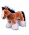 Pluche shire paard knuffel bruin 30 cm
