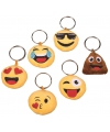 Pluche smiley cool face sleutelhanger