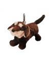 Pluche teckel hond sleutelhanger