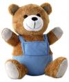 Pluche teddybeer met blauwe outfit