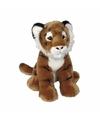 Pluche tijger knuffel zittend 30 cm