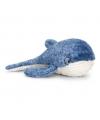 Pluche walvis knuffel blauw liggend 35cm