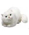 Pluche witte perzische katten knuffel 30 cm