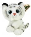 Pluche witte tijger knuffeltje 20 cm