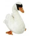 Pluche witte zwaan knuffel 28 cm