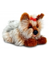 Pluche yorkie hond bruin 35 cm