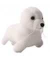 Pluche zeehondje wit 10 cm