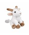 Pluche zittende geiten knuffeldier 15cm