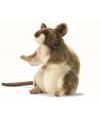 Pluche zittende muis 15 cm