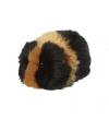 Pluche zwart met bruine cavia 13 cm
