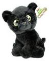 Pluche zwarte panter knuffeltje 20 cm