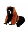 Rode lemur aapje knuffel 16 cm