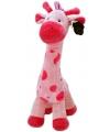 Roze baby giraffe 51 cm