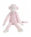Roze pluche knuffel aap mickey