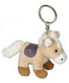 Sleutelhanger paardje creme 12 cm