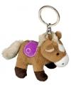 Sleutelhanger paardje lichtbruin 12 cm