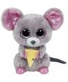 Ty beanie boo s squeaker pluche grijs muis knuffel 15 cm