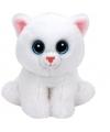 Ty beanie knuffel witte kat 15 cm